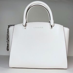 Michael Kors Ellis Large White  Satchel Bag